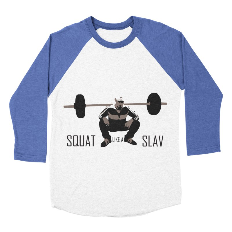 Squat Like a Gym Slav Men's Baseball Triblend T-Shirt by SlavicStyle