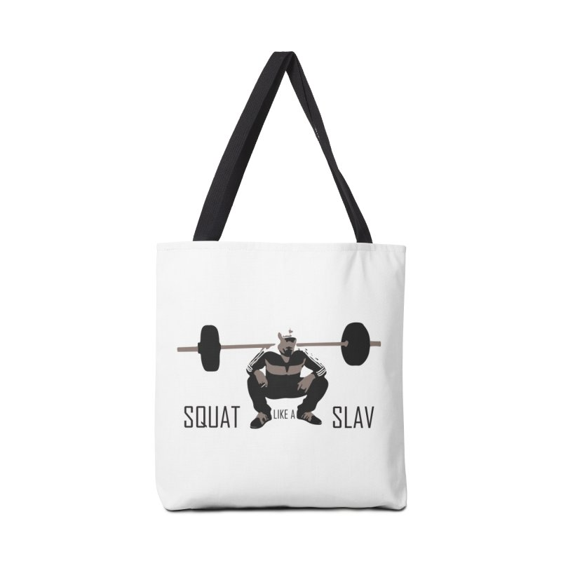 Squat Like a Gym Slav Accessories Tote Bag Bag by SlavicStyle
