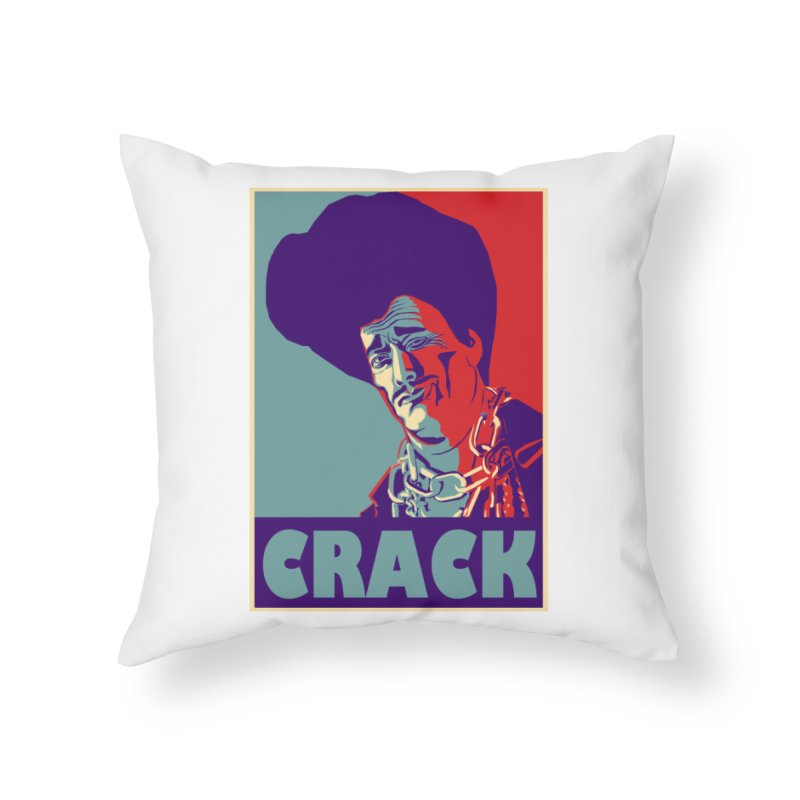 Crack Home Throw Pillow by sleazy p martini's Artist Shop