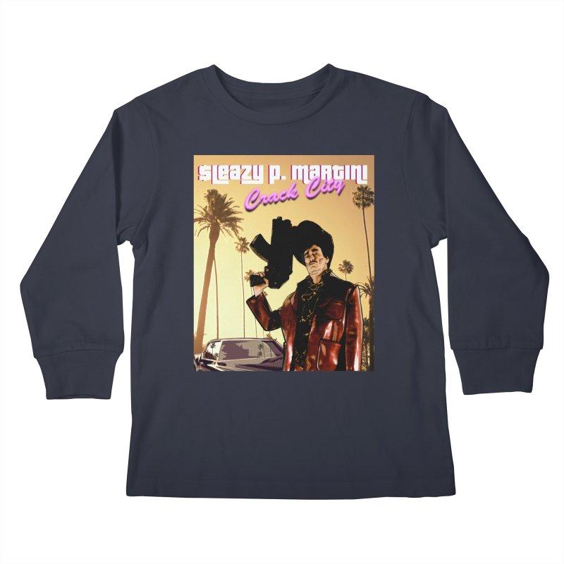 Sleazy P Martini Crack City Kids Longsleeve T-Shirt by sleazy p martini's Artist Shop