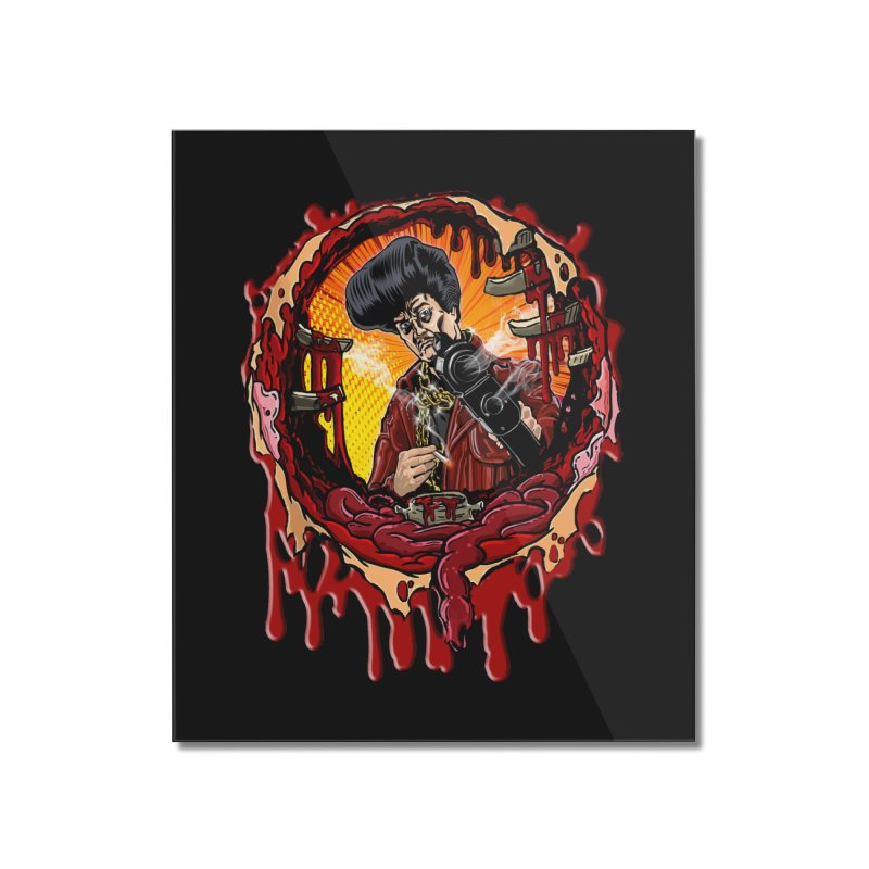 Sleazy Bullet Hole Home Mounted Acrylic Print by sleazy p martini's Artist Shop