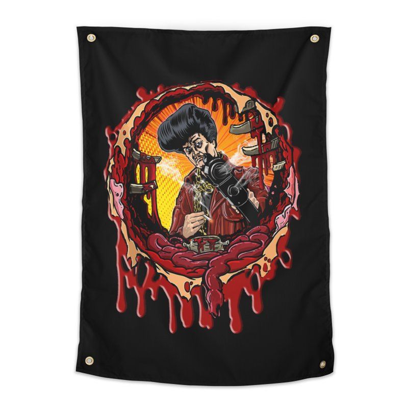Sleazy Bullet Hole Home Tapestry by sleazy p martini's Artist Shop