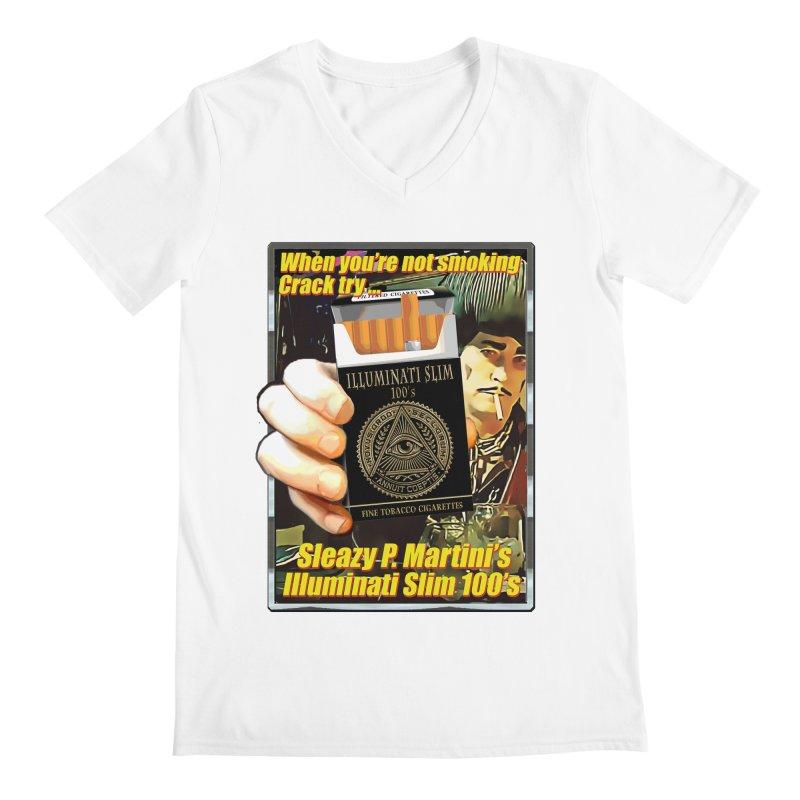 Sleazy's Illuminati 100's Men's V-Neck by sleazy p martini's Artist Shop