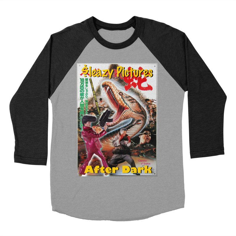 Sleazy Pictures Calamity of Snakes Men's Baseball Triblend Longsleeve T-Shirt by sleazy p martini's Artist Shop
