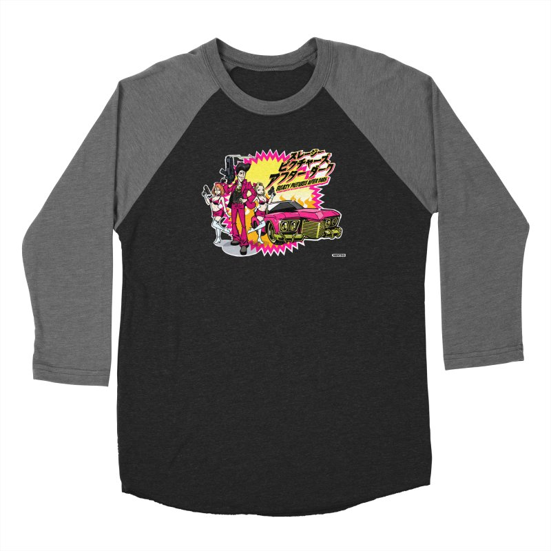 Sleazy Pictures Manga Style Men's Baseball Triblend Longsleeve T-Shirt by sleazy p martini's Artist Shop