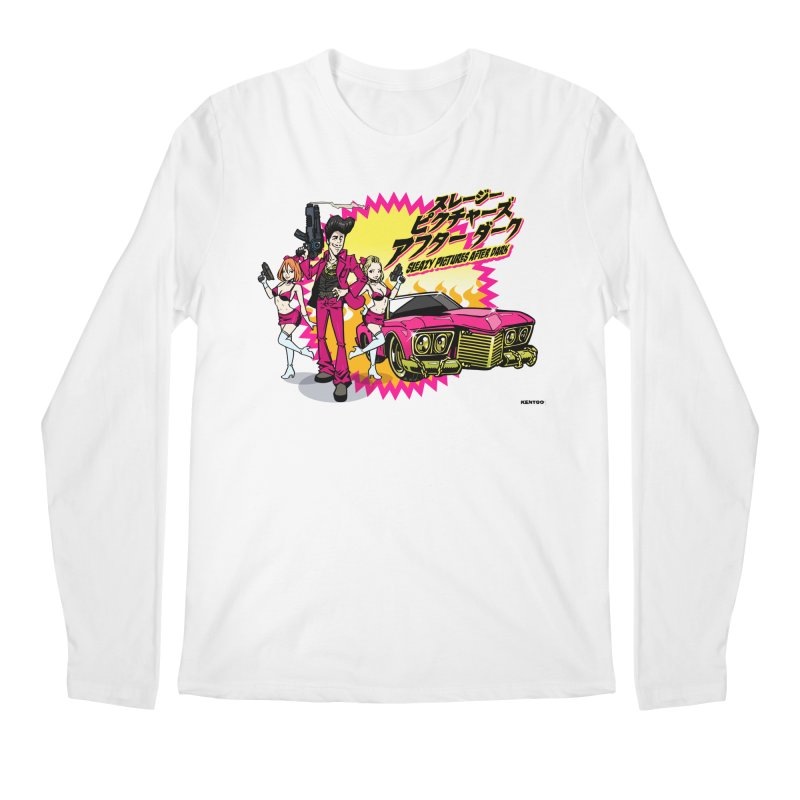 Sleazy Pictures Manga Style Men's Regular Longsleeve T-Shirt by sleazy p martini's Artist Shop