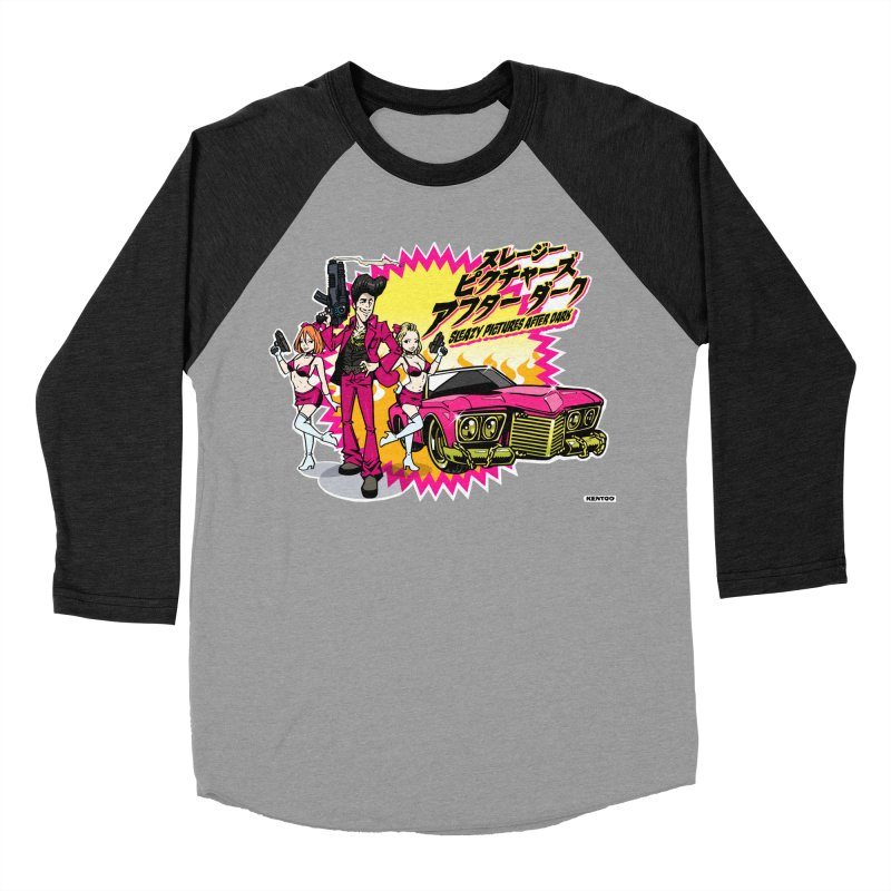 Sleazy Pictures Manga Style Women's Baseball Triblend Longsleeve T-Shirt by sleazy p martini's Artist Shop