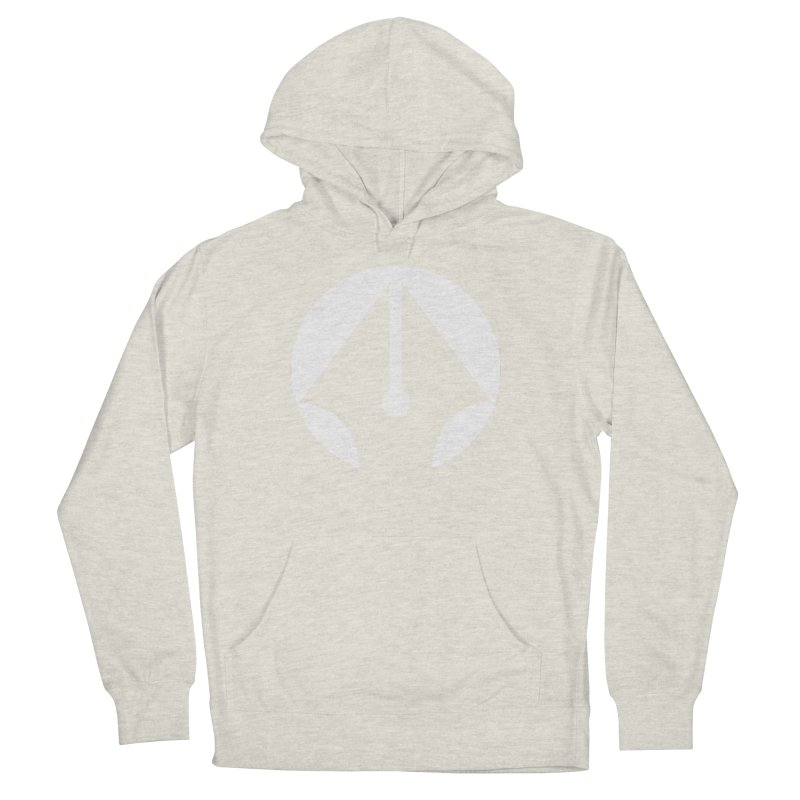 Pen (White) Men's French Terry Pullover Hoody by sleekandmodern's Artist Shop