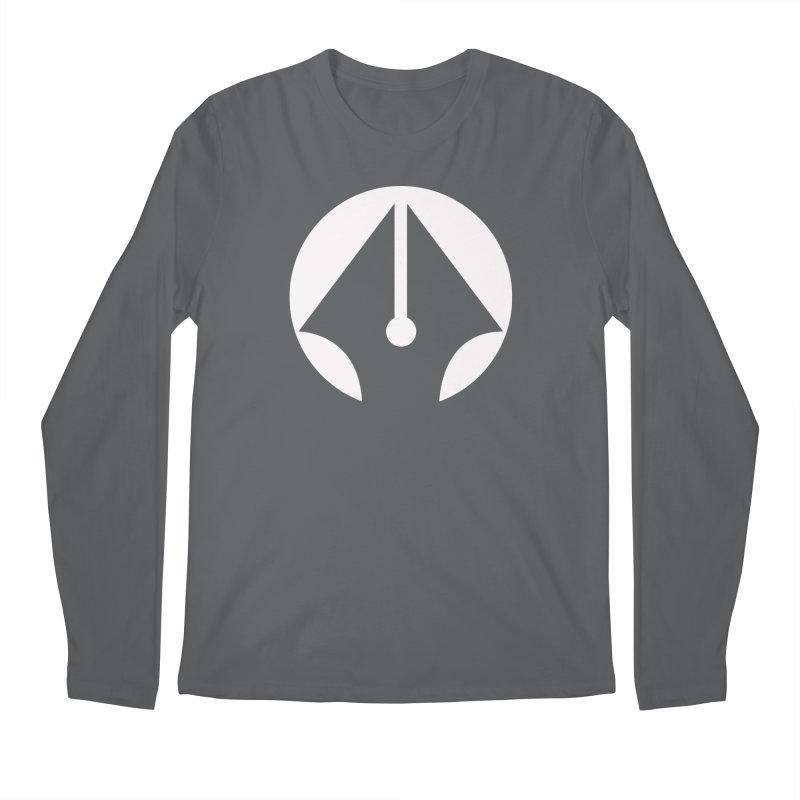 Pen (White) Men's Regular Longsleeve T-Shirt by sleekandmodern's Artist Shop