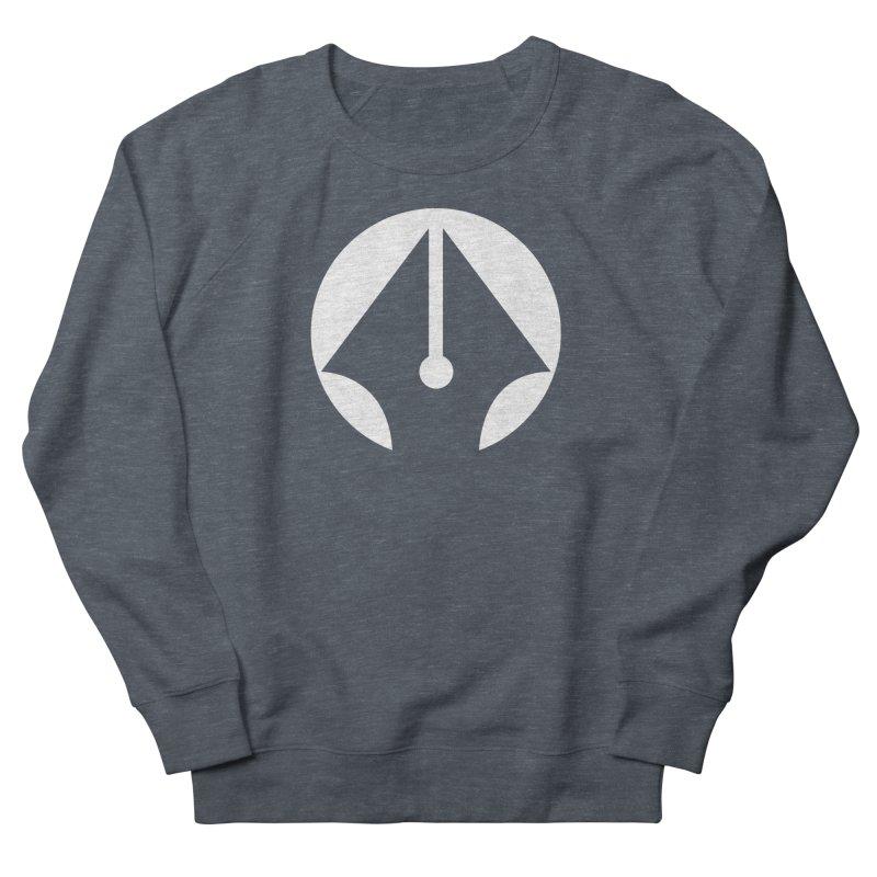 Pen (White) Men's French Terry Sweatshirt by sleekandmodern's Artist Shop