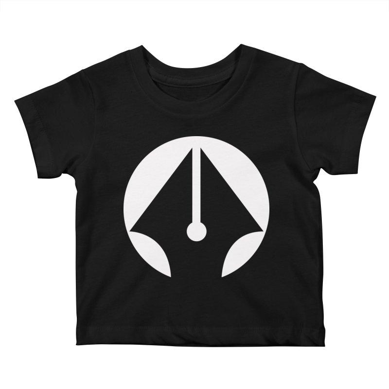 Pen (White) Kids Baby T-Shirt by sleekandmodern's Artist Shop