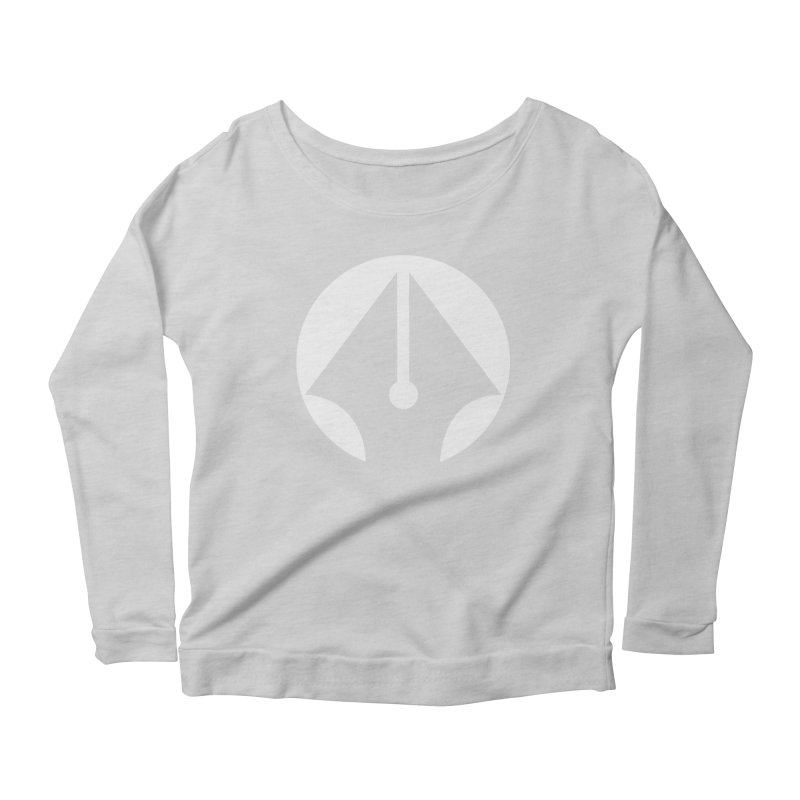Pen (White) Women's Scoop Neck Longsleeve T-Shirt by sleekandmodern's Artist Shop