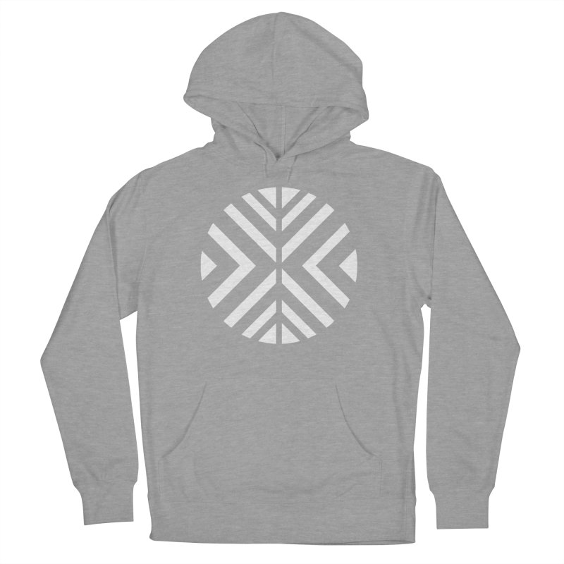 Circle X White Men's French Terry Pullover Hoody by sleekandmodern's Artist Shop