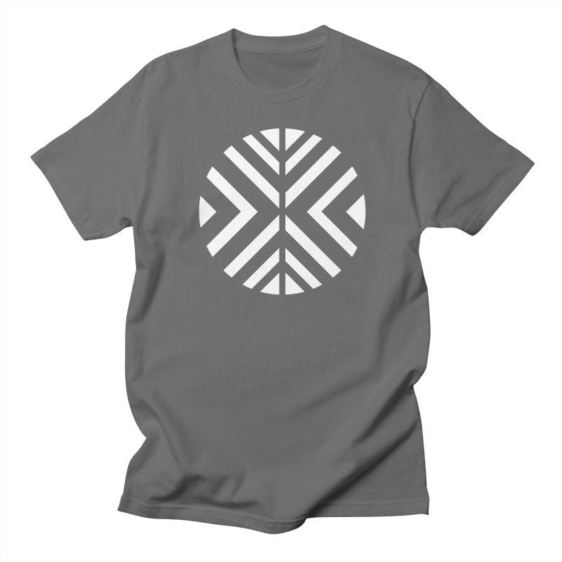 Circle X White Men's T-Shirt by sleekandmodern's Artist Shop
