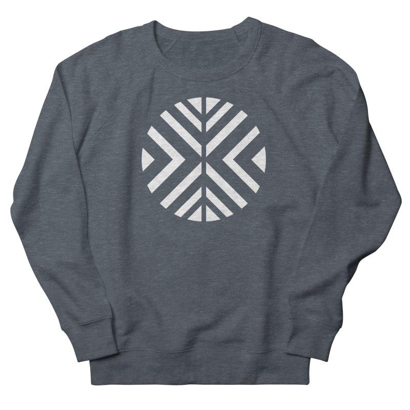 Circle X White Women's French Terry Sweatshirt by sleekandmodern's Artist Shop