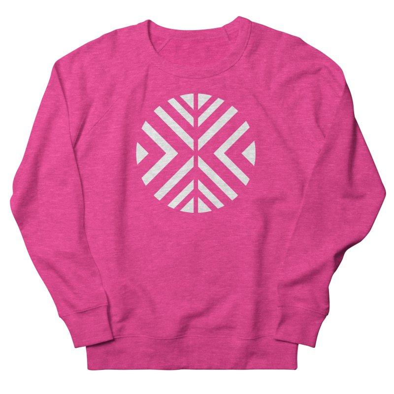 Circle X White Men's French Terry Sweatshirt by sleekandmodern's Artist Shop
