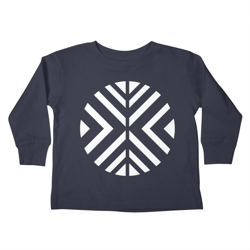 Circle X White Kids Toddler Longsleeve T-Shirt by sleekandmodern's Artist Shop