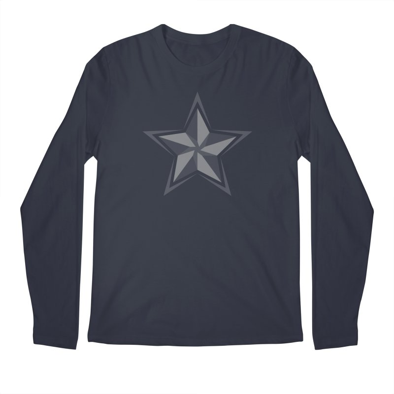 Star Men's Regular Longsleeve T-Shirt by sleekandmodern's Artist Shop