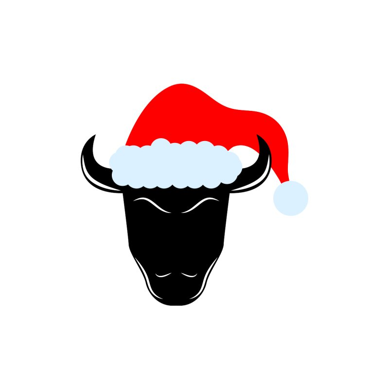 Christmas Bison Men's V-Neck by sleekandmodern's Artist Shop