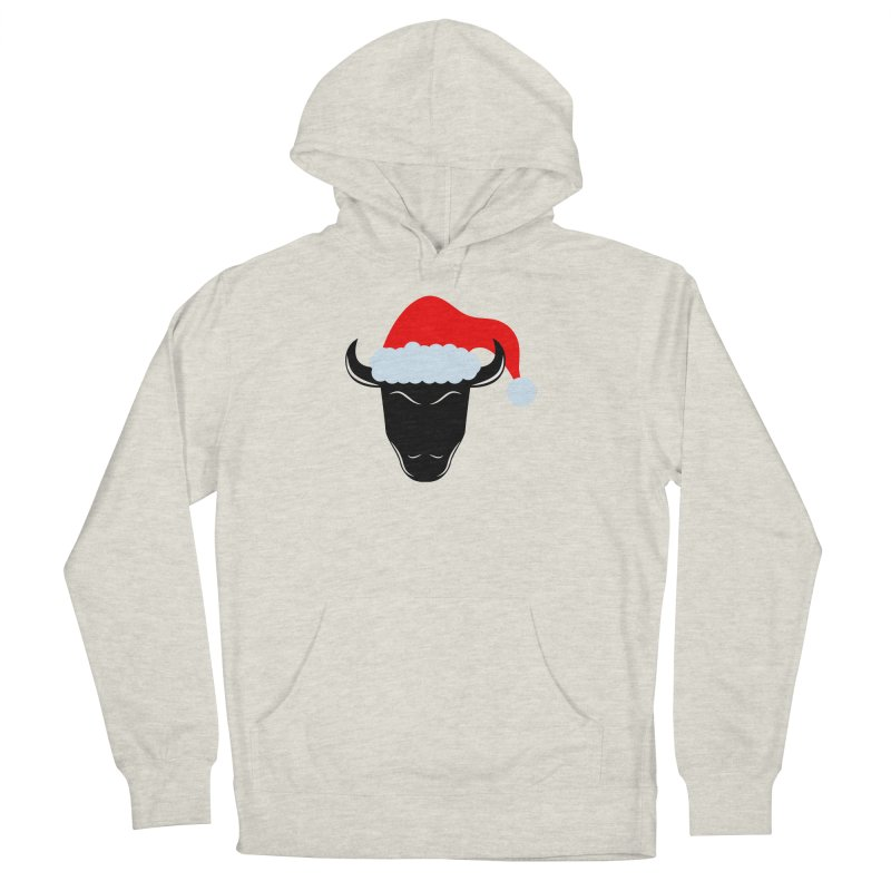 Christmas Bison Men's French Terry Pullover Hoody by sleekandmodern's Artist Shop
