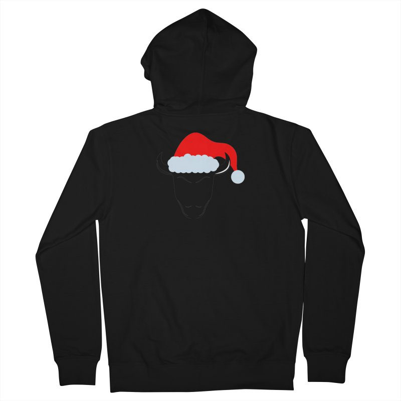 Christmas Bison Women's French Terry Zip-Up Hoody by sleekandmodern's Artist Shop