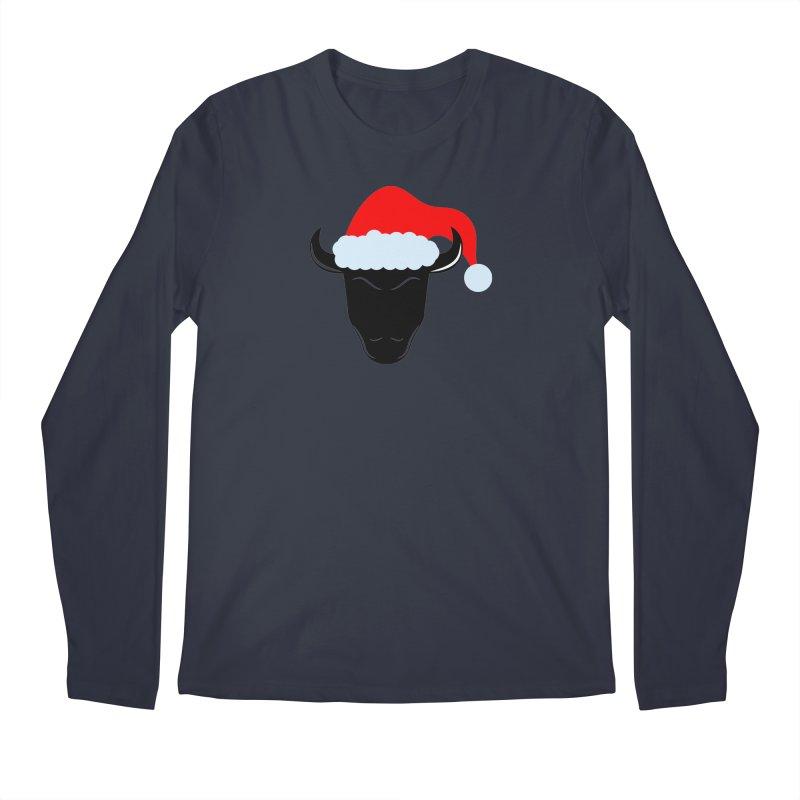 Christmas Bison Men's Regular Longsleeve T-Shirt by sleekandmodern's Artist Shop
