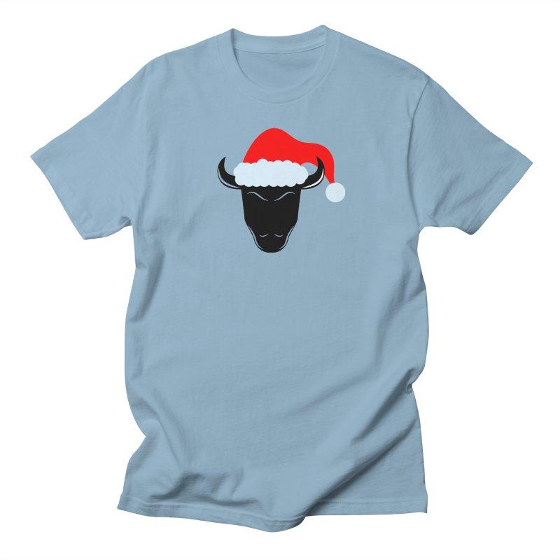 Christmas Bison Women's Regular Unisex T-Shirt by sleekandmodern's Artist Shop