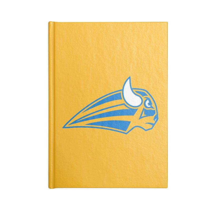Raging Bison Accessories Blank Journal Notebook by sleekandmodern's Artist Shop