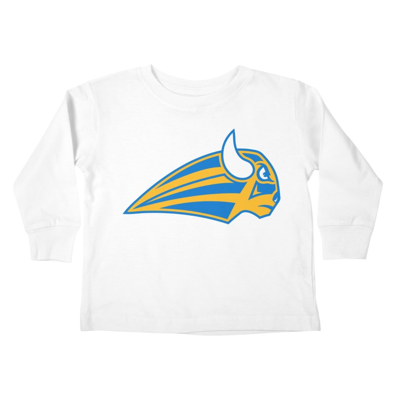 Raging Bison Kids Toddler Longsleeve T-Shirt by sleekandmodern's Artist Shop