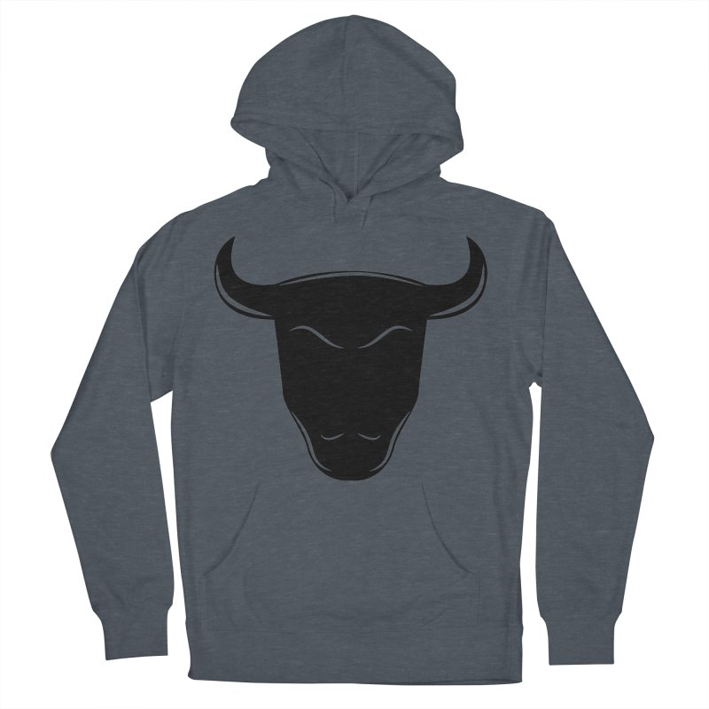 Bison Women's French Terry Pullover Hoody by sleekandmodern's Artist Shop