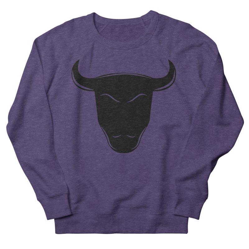 Bison Men's French Terry Sweatshirt by sleekandmodern's Artist Shop