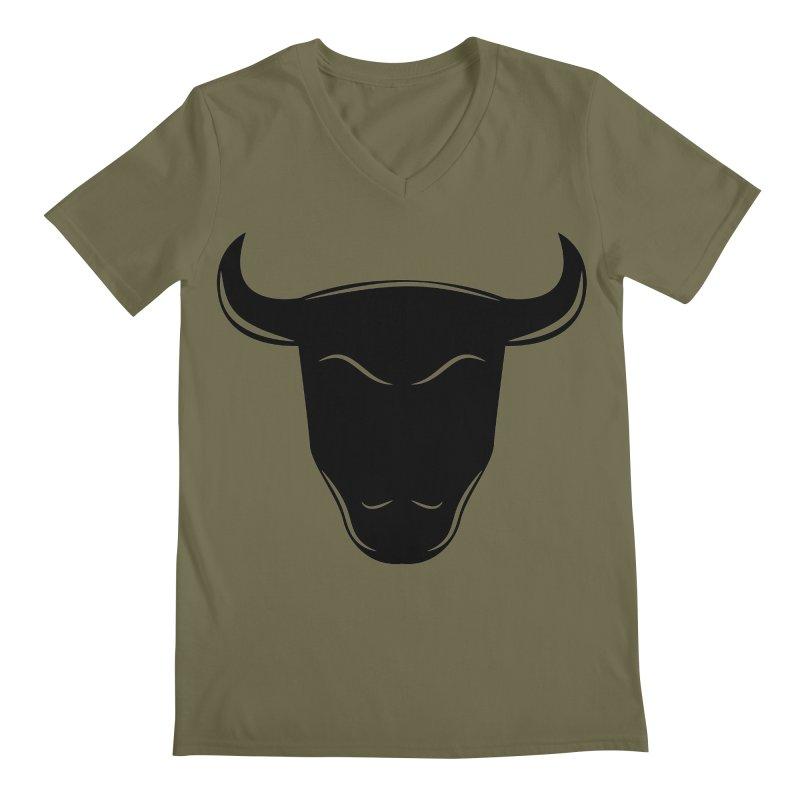 Bison Men's Regular V-Neck by sleekandmodern's Artist Shop
