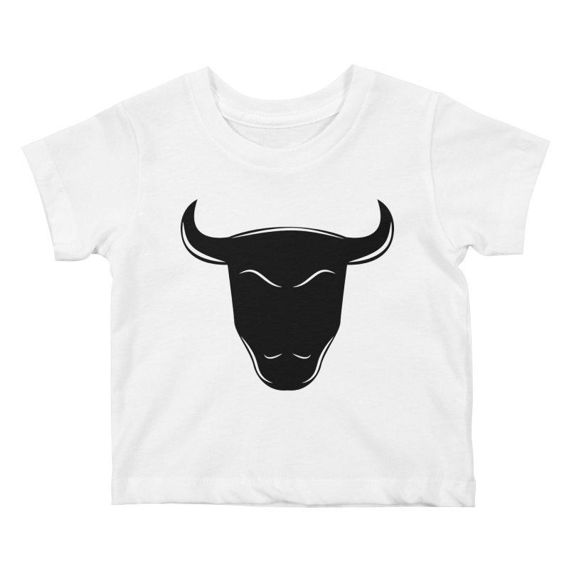 Bison Kids Baby T-Shirt by sleekandmodern's Artist Shop