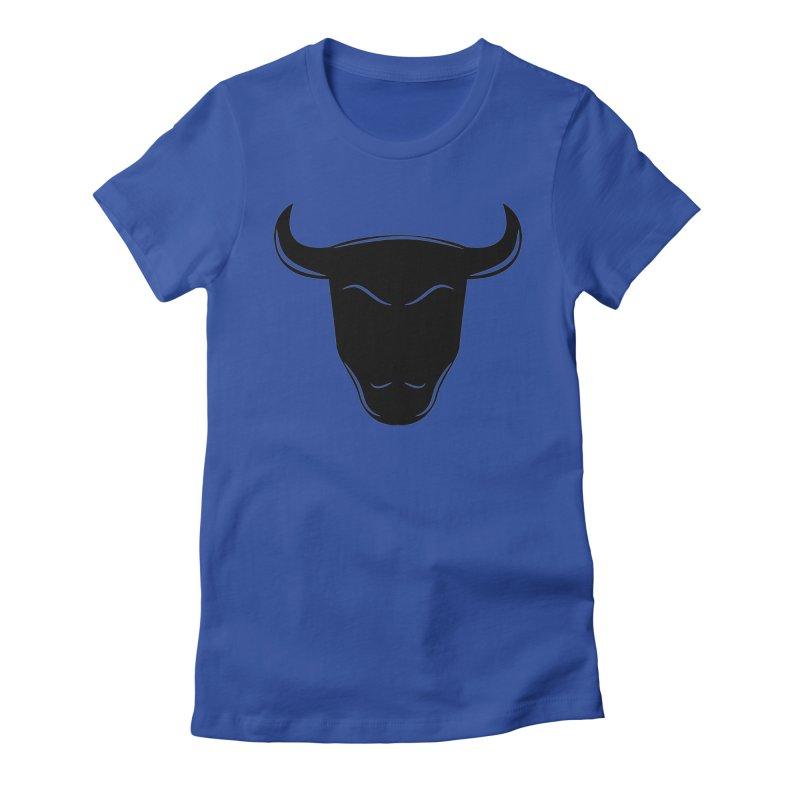 Bison Women's Fitted T-Shirt by sleekandmodern's Artist Shop