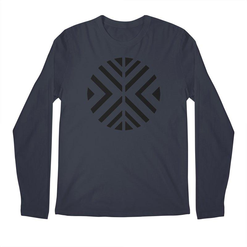 Black Circle X Men's Regular Longsleeve T-Shirt by sleekandmodern's Artist Shop