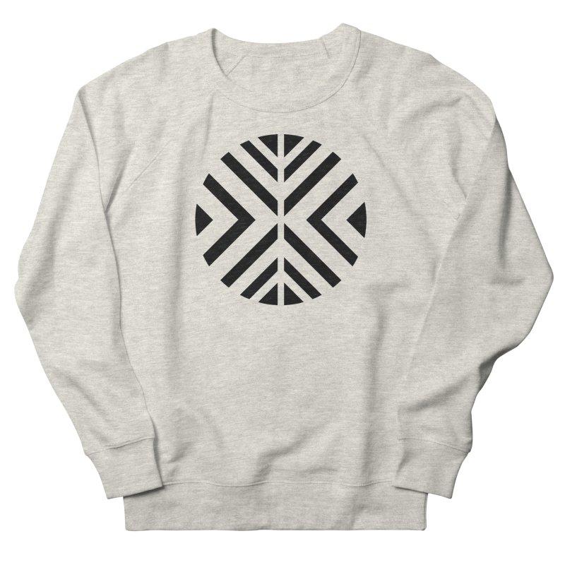 Black Circle X Men's French Terry Sweatshirt by sleekandmodern's Artist Shop