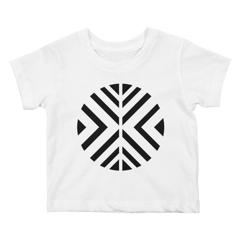Black Circle X Kids Baby T-Shirt by sleekandmodern's Artist Shop