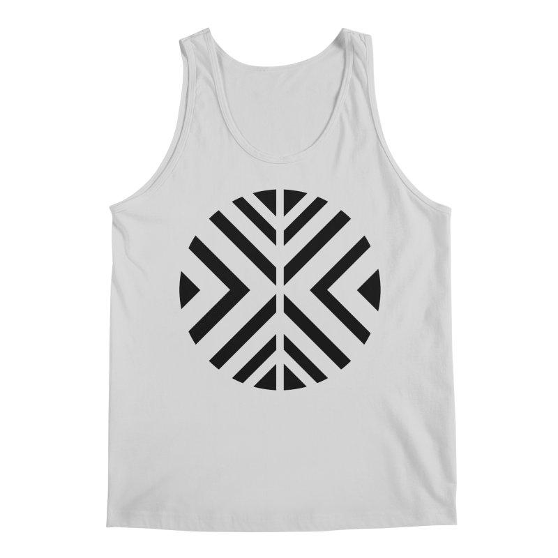 Black Circle X Men's Regular Tank by sleekandmodern's Artist Shop