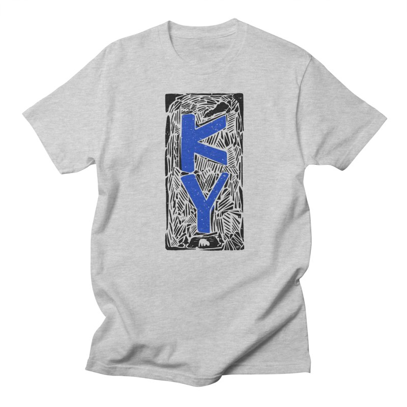Kentucky Stamped in Women's Unisex T-Shirt Heather Grey by Sleepless Jack Design