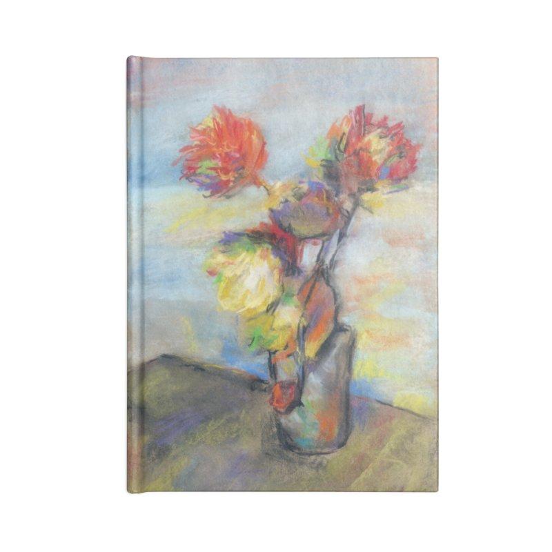 Flowers. Pastel crayons on cardboard. Accessories Notebook by sleepwalker's Artist Shop