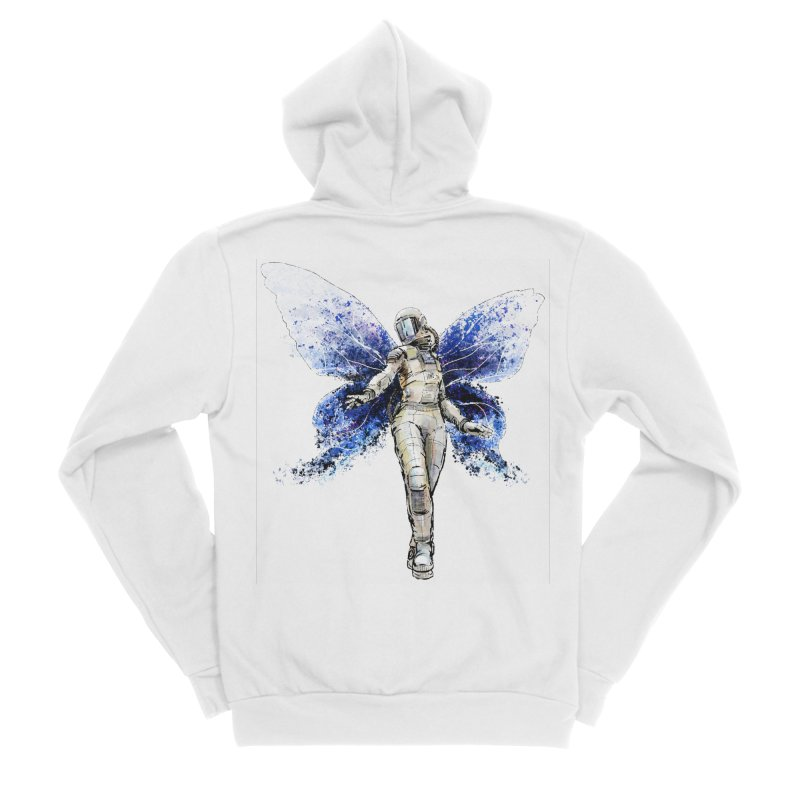 Space Butterfly Women's Sponge Fleece Zip-Up Hoody by sleepwalker's Artist Shop