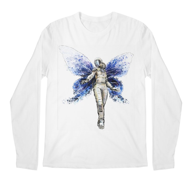 Space Butterfly Men's Regular Longsleeve T-Shirt by sleepwalker's Artist Shop