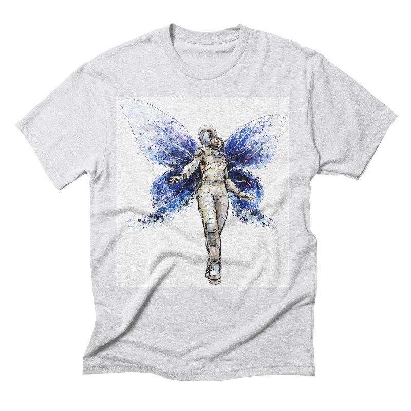 Space Butterfly Men's Triblend T-Shirt by sleepwalker's Artist Shop