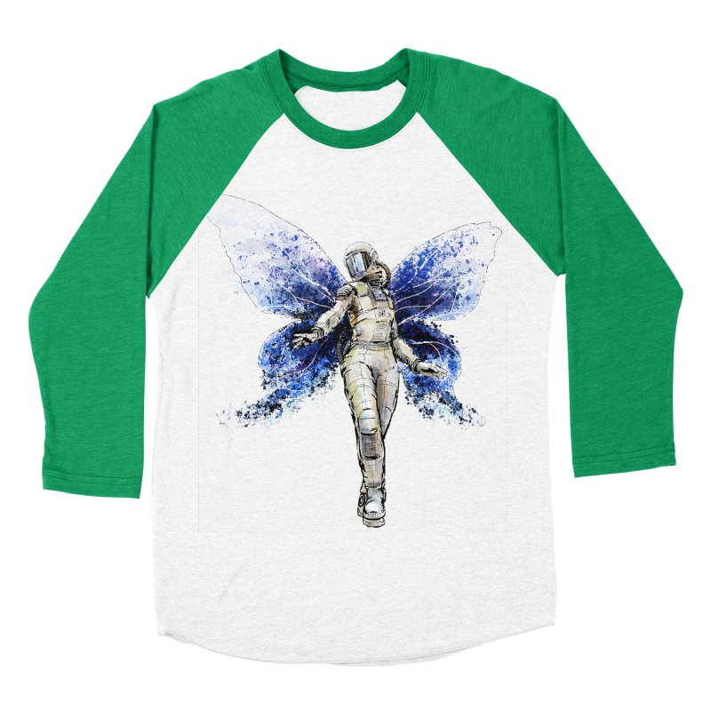 Space Butterfly Men's Baseball Triblend Longsleeve T-Shirt by sleepwalker's Artist Shop