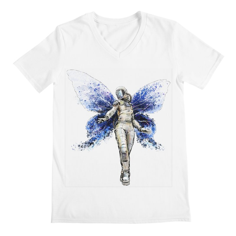 Space Butterfly Men's Regular V-Neck by sleepwalker's Artist Shop