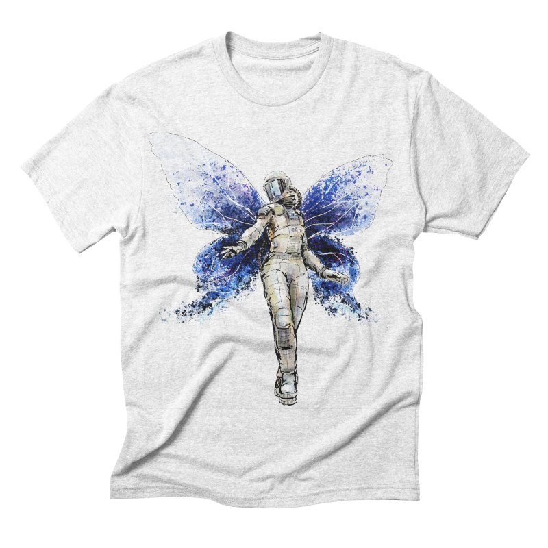 Space Butterfly Men's Triblend T-shirt by sleepwalker's Artist Shop