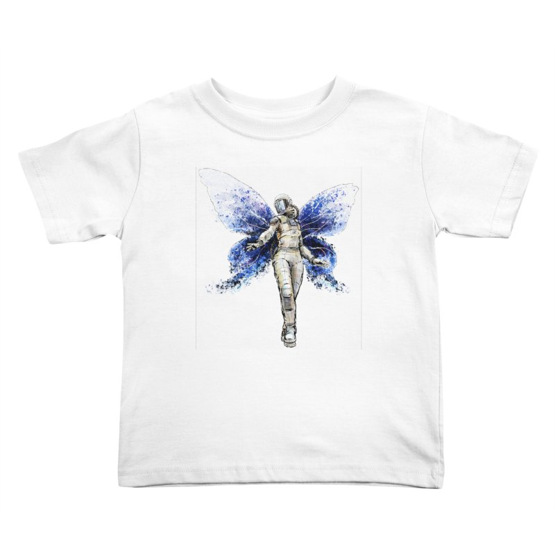 Space Butterfly Kids Toddler T-Shirt by sleepwalker's Artist Shop