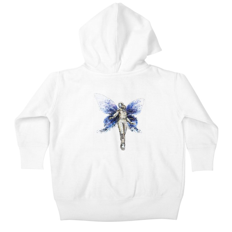 Space Butterfly Kids Baby Zip-Up Hoody by sleepwalker's Artist Shop