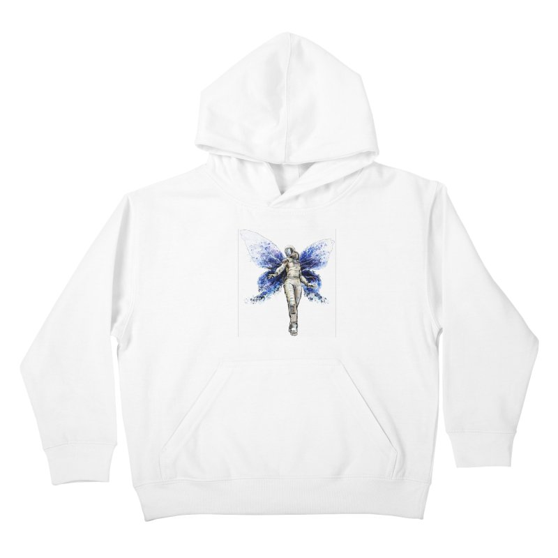 Space Butterfly Kids Pullover Hoody by sleepwalker's Artist Shop