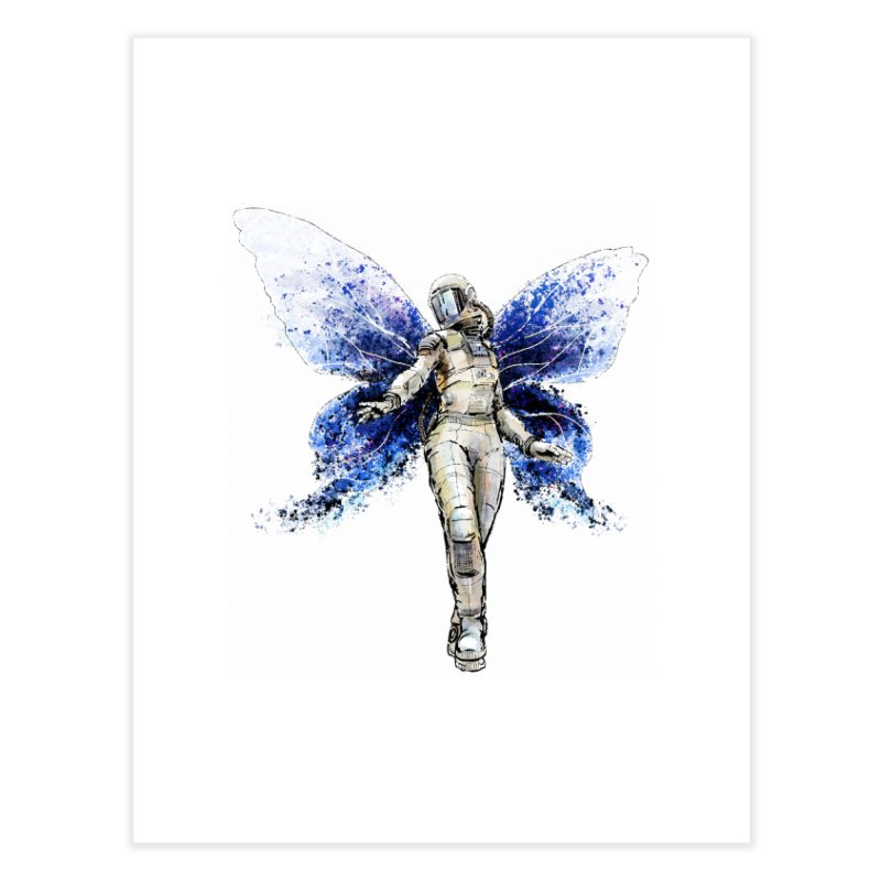 Space Butterfly Home Fine Art Print by sleepwalker's Artist Shop